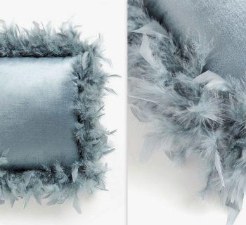 poduszka z piórami szara