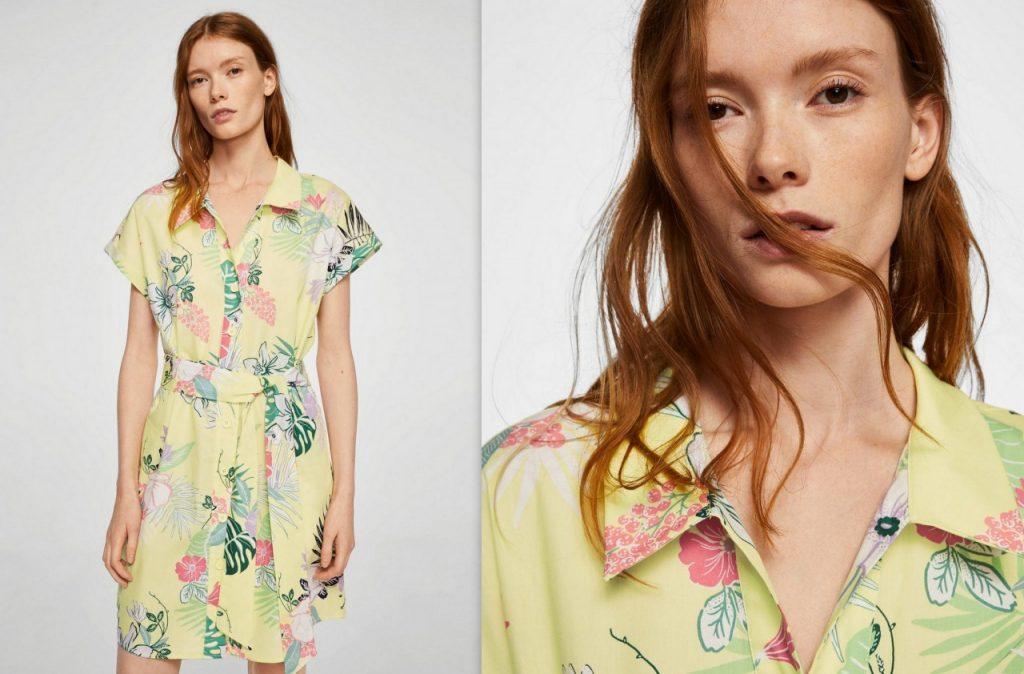 1 sukienka w kwiaty mango