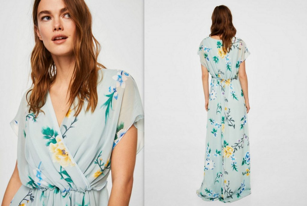 2 sukienka w kwiaty mango