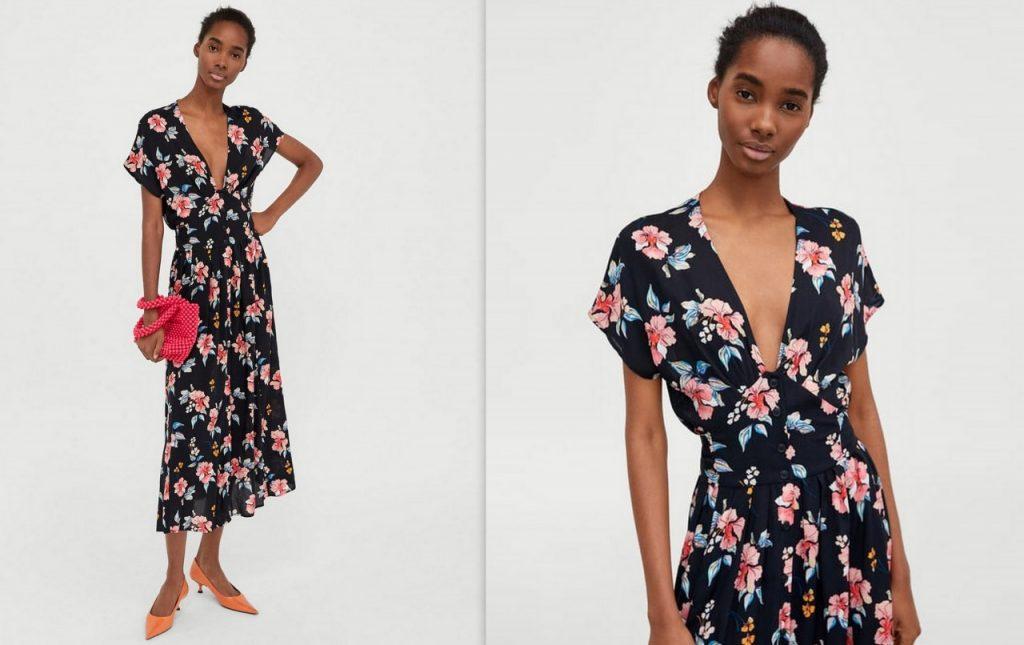 6 sukienka w kwiaty zara