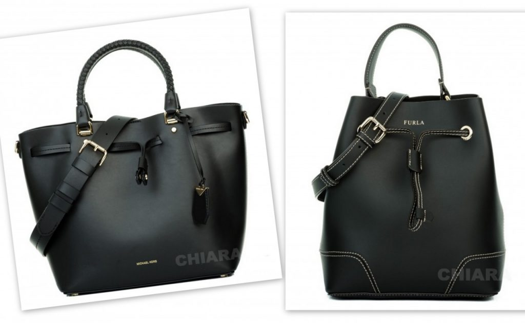 czarne torebki worek i klasyczna