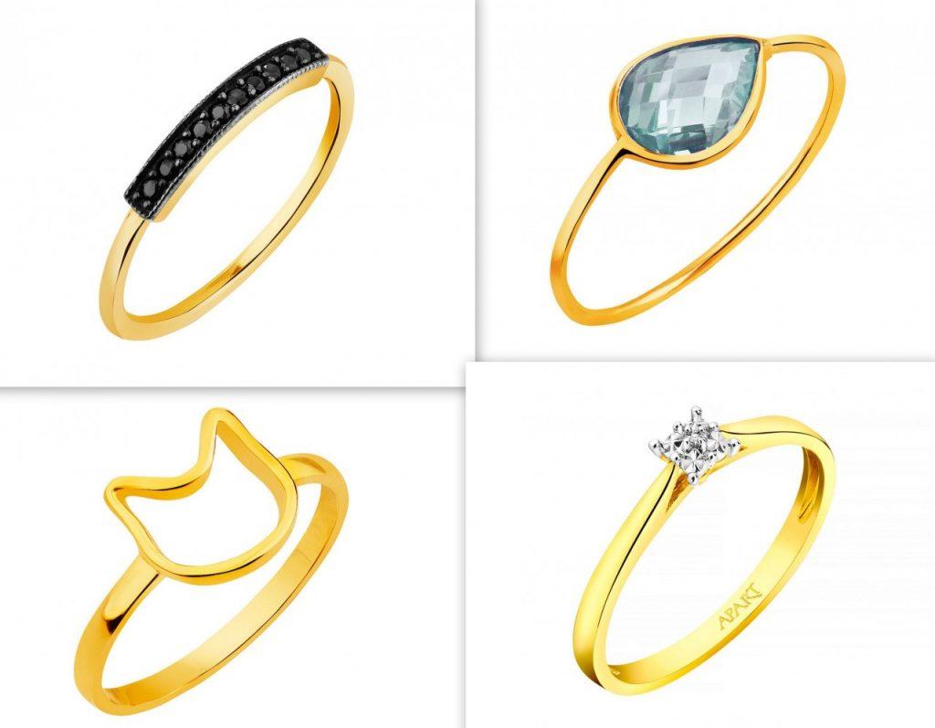 złote pierścionki apart