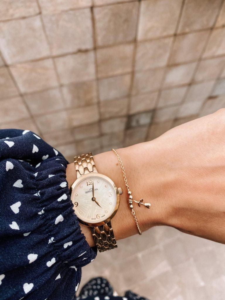delikatny złoty zegarek bergstern apart (Niestandardowy)